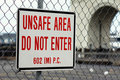 Free Unsafe Area Sign Stock Photography - 15936232