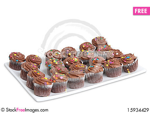 Free Homemade Cupcakes On Plate Royalty Free Stock Images - 15934429