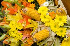Free Flowers And Corn Bouquet Stock Image - 15930101