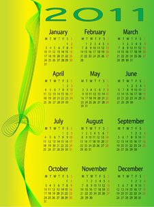 Free 2011 Calendar Royalty Free Stock Photos - 15930328
