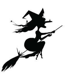 Free Witch On A Broomstick Royalty Free Stock Photos - 15930938