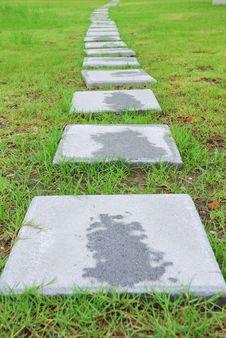 Brick Way Stock Photo