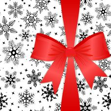Free Red Bow On A Christmas Background. Eps10 Royalty Free Stock Image - 15931816