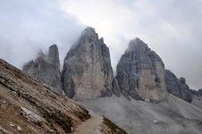 Free Landscape Dolomites - Tre Cime Di Lavaredo Royalty Free Stock Images - 15932109