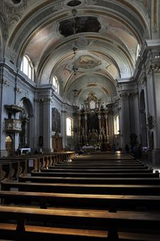 Cortina D Ampezzo Parish Church Royalty Free Stock Photo