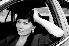 Free Woman In The Car Royalty Free Stock Photography - 15932357