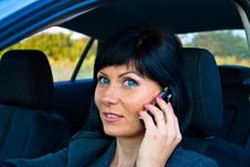 Free Woman In The Car Royalty Free Stock Image - 15932366