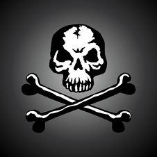 Free Illustration Of A Skull With Two Bones Royalty Free Stock Images - 15933279