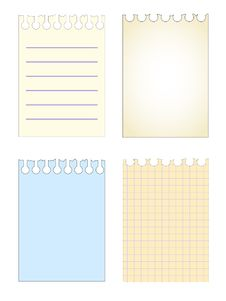 Free Notebook Sheets Set Pattern Stock Images - 15933974