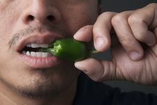 Free Jalapeno Pepper Bite Stock Photos - 15934183