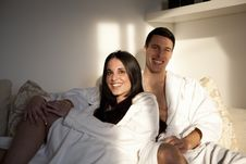 Sexy Young Couple Having Morning Together Stock Photo