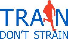 Free Runner Jogger Train Don T Strain Stock Photos - 15934423