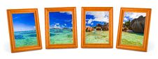 Free Panorama Of Tropical Beach In Frames Royalty Free Stock Images - 15934739