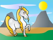 Cute Pony Horse Royalty Free Stock Images