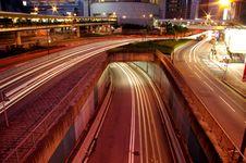 Free Traffic Through Downtown In Hong Kong Royalty Free Stock Photos - 15935798