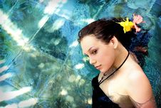 Free Woman  In Water Royalty Free Stock Photography - 15936187