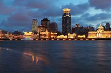 Free Night View Of Shanghai Bund Royalty Free Stock Photography - 15936997