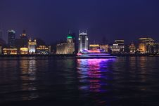 Free Night View Of Shanghai Bund Royalty Free Stock Photo - 15937075