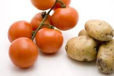 Free Tomatoes With Potatoes Royalty Free Stock Photo - 15937555