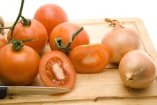 Free Tomatoes With Onions Stock Photos - 15937653