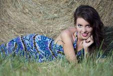 Free Beautiful Girl Near Haystacks Stock Photo - 15937800