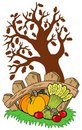 Free Thanksgiving Motive With Tree Royalty Free Stock Image - 15942006