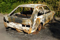 Free Burnt Car Wreck Royalty Free Stock Image - 15943406