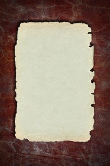 Free Vintage Paper On Old Red  Wall Stock Photos - 15940053