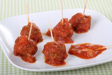 Free Meatball Appetizer Royalty Free Stock Images - 15940729