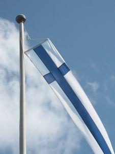 Free Finnish Flag Royalty Free Stock Photos - 15940918