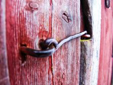 Free Door Hasp Royalty Free Stock Image - 15940926
