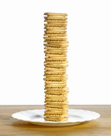 Pile Of Biscuits Stock Images