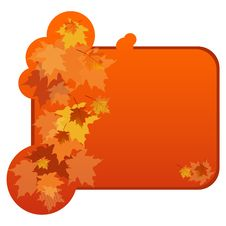 Banner With Autumnal Leaves Stock Photos