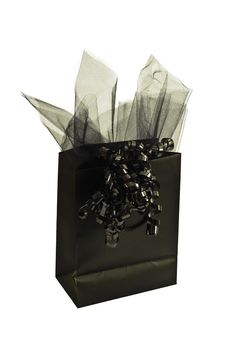 Black Gift Bag Stock Photos