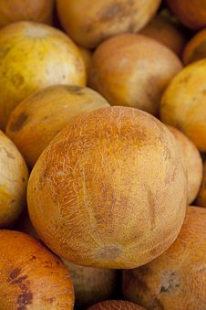 Free Large Ripe Orange Israel Melon Food Stock Photography - 15943432