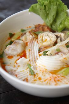 Tom Yum , Spicy Soup Thai Style Stock Photography