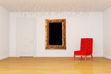 Free Room With Door, Red Chair And Frame Royalty Free Stock Photos - 15944458