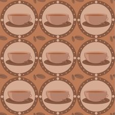 Free Cute Coffee Pattern Royalty Free Stock Images - 15944879