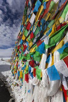 Free Tibet: Tibetan Prayer Flags Royalty Free Stock Images - 15945259