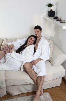 Sexy Young Couple In The Morning Stock Image
