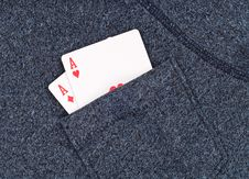 Aces In The Pocket Stock Photography