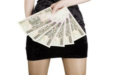 Free Woman With Bank Notes Stock Photos - 15945613