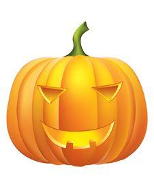 Free Pumpkin .Halloween Royalty Free Stock Image - 15945696