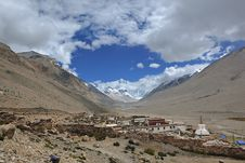 Free Tibet: Rongbuk Monastery Royalty Free Stock Image - 15945826