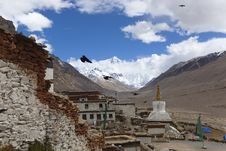 Free Tibet: Rongbuk Monastery Royalty Free Stock Photography - 15945987