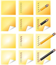 Free Notes Whith Pencil Royalty Free Stock Image - 15946056