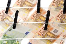 Free Dry Up Of Euro Money Royalty Free Stock Images - 15946069