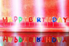 Free Birthday Candles Royalty Free Stock Photography - 15946117