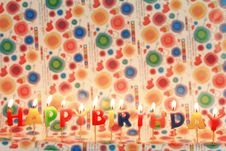 Free Birthday Candles Royalty Free Stock Photography - 15946417