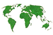 Free Green Grass World Map Stock Photography - 15946452